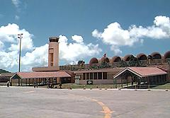 Antigua airport. Trust me when I say this photograph glamorises it. Perhaps I should learn to use photoshop.